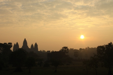 sunrise over Angkor Wat on Christmas morning